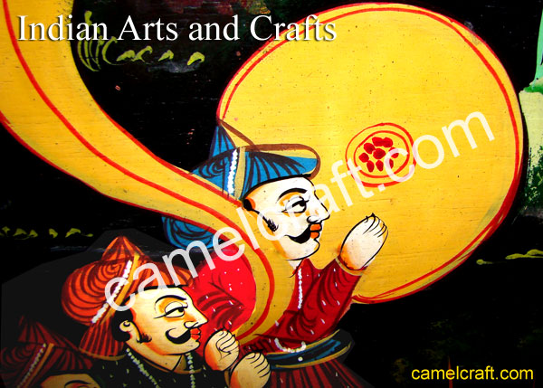 Indian Arts and Crafts, Rajasthani Paintings, Miniature painting style]