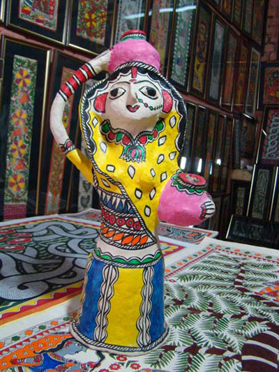 Bihar paper mache and madhubani paintings