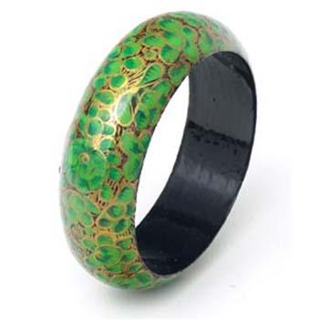 Papier mache jewelry hand culf paper mache kashmir india for How to make paper mache jewelry